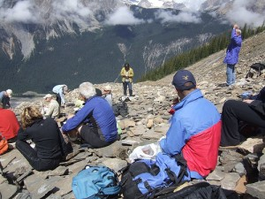 Burgess Shale Hike. Picture from burgess-shale.ba.ca.