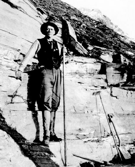 Charles Walcott, the discoverer of the Burgess Shale fossil bed